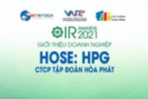 Ảnh của IR AWARDS 2021: Giới thiệu CTCP Tập đoàn Hòa Phát (HOSE: HPG)